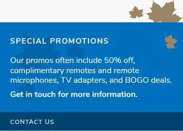 Contact Us About Special Promotions